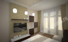 Концепт гостиной комнаты от компании Бригада Ремонта