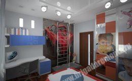 Концепт отделки детской комнаты в квартире на Московской