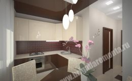 Концепт отделки и ремонта кухни в квартире на Московской
