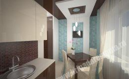 Концепт отделки кухни в квартире на Московской