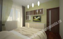 Концепт отделки спальни в квартире на Московской