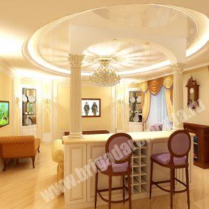 Концепт отделки столовой комнаты от Бригады Ремонта,элитный ремонт,ремонт квартиры