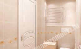 Концепт отделки ванной комнаты квартиры на Яхтенной