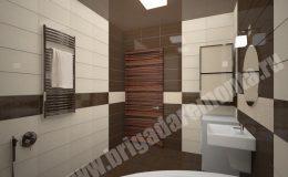 Концепт отделки ванной в квартире на Морской наб.