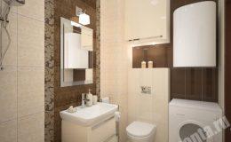 Концепт отделки ванной в квартире на Московской
