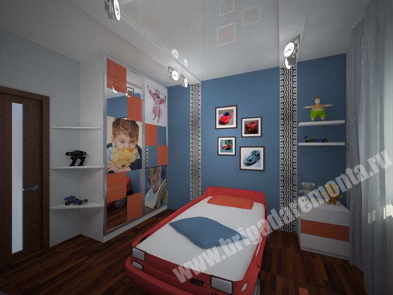 Концепт ремонта детской комнаты в квартире на Московской