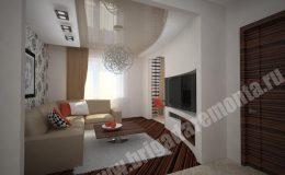 Концепт ремонта гостиной в квартире на Морской наб.