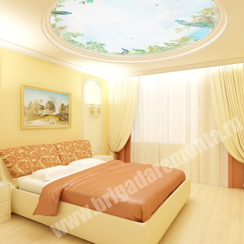 Концепт ремонта спальни от Бригады Ремонта