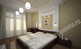 Концепт ремонта спальни от компании Бригада Ремонта