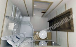 Концепт ремонта ванной комнаты для коттеджа