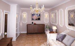 Косметический ремонт гостиной в квартире на Оптиков