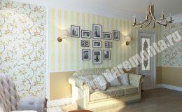 Отделка гостиной комнаты в квартире на Ленсовета