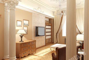 Колонны и резные потолки в квартире на Пестеля