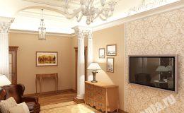 Отделка и ремонт в гостиной квартиры на Пестеля