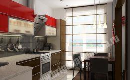 Отделка кухни в квартире на Ленинском пр.