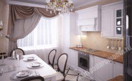 Отделка кухни в квартире на Оптиков компанией Бригада Ремонта