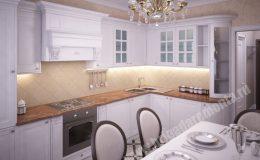 Отделочные работы в кухне квартиры на Оптиков