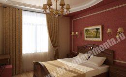 Отделка спальни в квартире от Бригады Ремонта