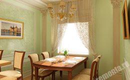 Отделка столовой комнаты компанией БригадаРемонта