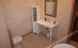 Отделка ванной комнаты в коттедже в Зеленой роще