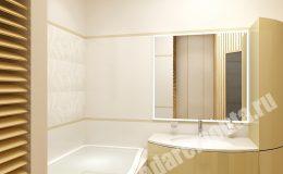 Отделка ванной комнаты в квартире на Коломяжском пр.