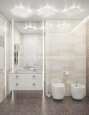 Отделка ванной в квартире на улице Васенко