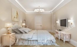 Отделочные работы в спальне квартиры на Парадной