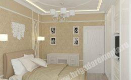 Отделочные работы в спальне от Бригады Ремонта