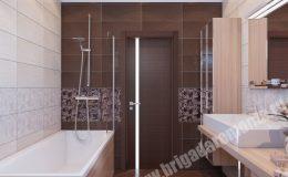 Отделочные работы в ванной комнате квартиры на Пионерской