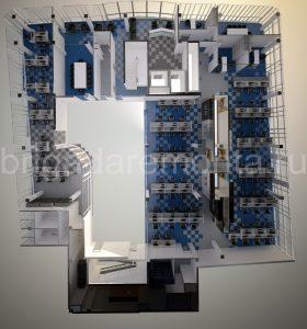 План будущего офиса,офис вид сверху,макет офиса