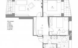 План квартиры на Московской для ремонта