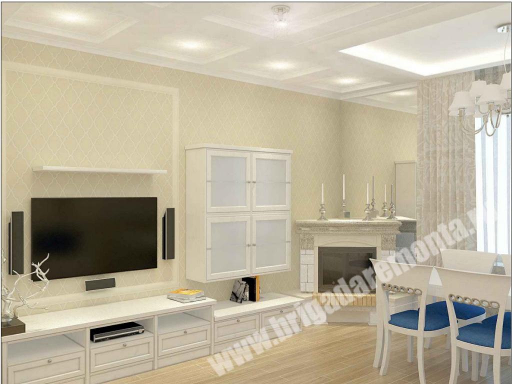 Проект отделки гостиной от Бригады Ремонта