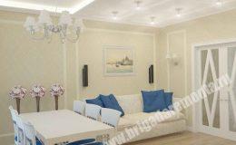 Проект ремонта гостиной в квартире на Пулковском шоссе
