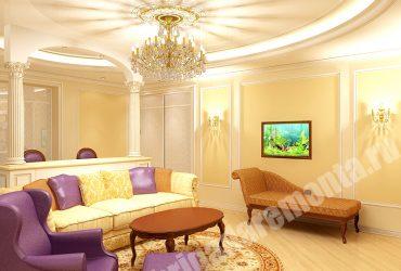 Косметическая отделка квартиры на Яхтенной в классическом стиле