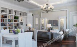 Ремонт гостиной в квартире на Пионерской