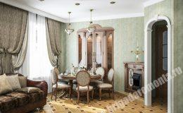 Ремонт гостиной в квартире на Итальянской