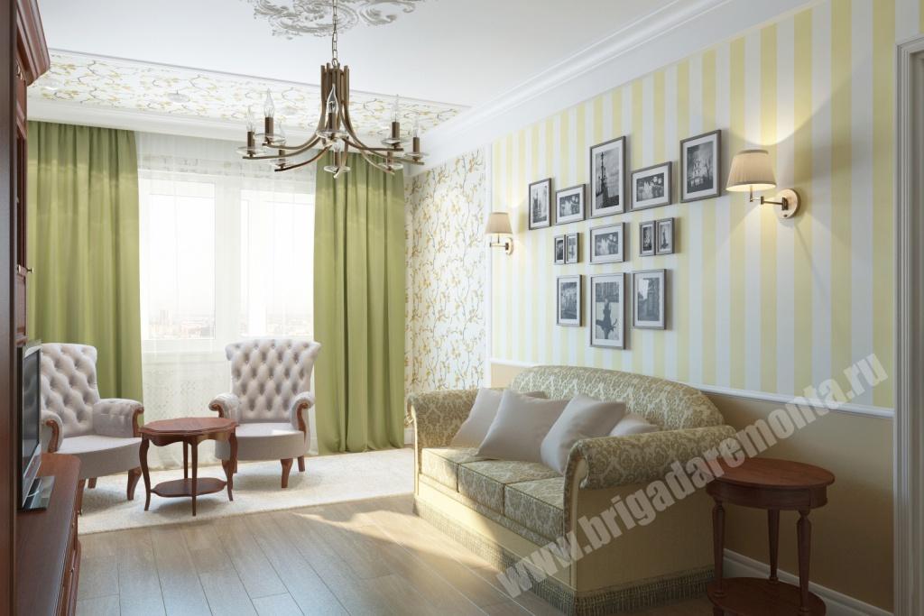Ремонт гостиной в квартире на Ленсовета