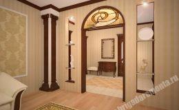Ремонт гостиной в квартире на Вавилова