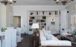Ремонт и отделка гостиной от компании Бригада Ремонта