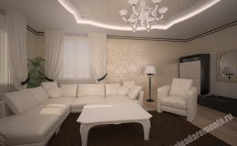 Ремонт и отделка гостиной в квартире на Звездной