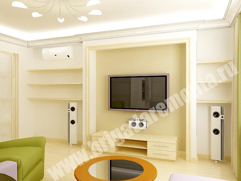 Ремонт комнат в квартире на Коломяжском пр.