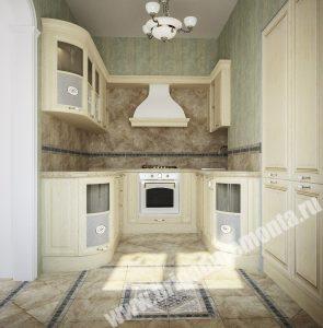 Ремонтные работы в кухне квартиры на Итальянской