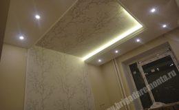 Ремонт потолка в квартире на Коломяжском пр.