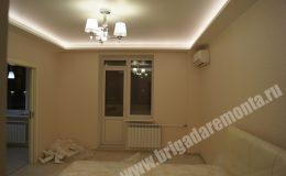 Ремонтные работы в спальне квартиры на Богатырском