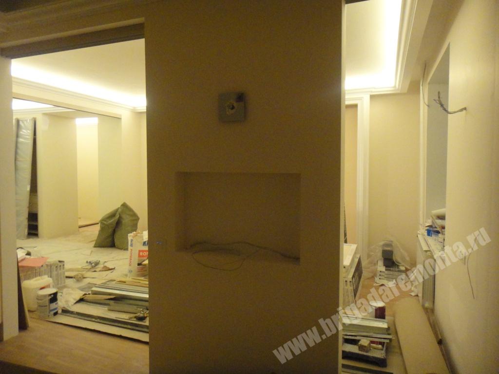 Ремонт стен в квартире на Коломяжском пр.