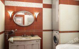 Ремонт в ванной комнате в квартире на Детской
