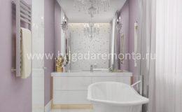 Ремонт ванной комнаты в квартире на улице Васенко