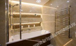 Ремонт ванной комнаты в квартире на Земледельческой