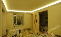 Ремонтные работы гостиной в квартире на Коломяжском пр.