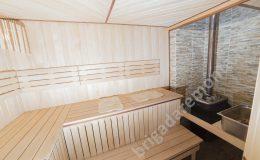 Отделка места для печки в бане